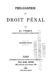 Philosophie du droit pénal: Volume3