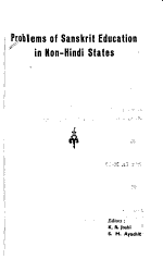 Problems of Sanskrit Education in Non Hindi States PDF
