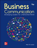 Loose Leaf for Business Communication  Developing Leaders for a Networked World PDF