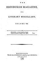 The Edinburgh Magazine  Or  Literary Miscellany PDF
