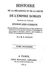 Histoire de la décadence et de la chûte de l'Empire romain: Volume2