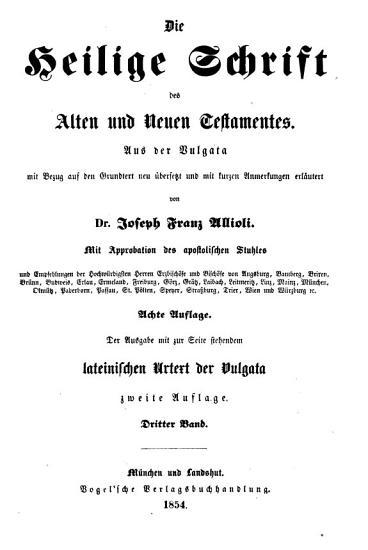 Die Heilige Schrift des Alten und Neuen Testamentes0 PDF