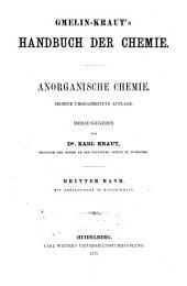 Handbuch der anorganischen Chemie: 3: Metalle, Band 3