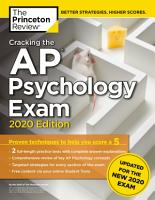 Cracking the AP Psychology Exam  2020 Edition PDF