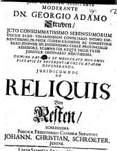 Iuridicum de reliquis schediasma