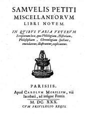 Miscellaneorum libri novem etc