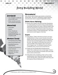 Writing Lesson Level 4  Story Building Blocks PDF