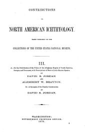 Contributions to North American Ichthyology: Volume 1