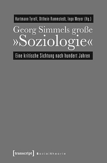 Georg Simmels gro  e   Soziologie   PDF