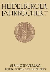 Heidelberger Jahrbücher: Band 3