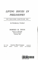 Living Issues in Philosophy  Second Edition PDF