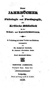 Neue Jahrbücher für Philologie und Paedagogik: Band 30