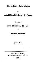Rheinische Jahrbücher zur gesellschaftlichen Reform: Band 2