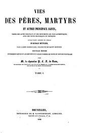 Vies des pères, martyrs et autres principaux saints: Volume1