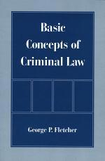 Basic Concepts of Criminal Law