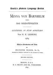 Minna von Barnhelm: oder, Das Soldatenglück; Lustspiel in fünf Aufzügen