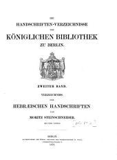 Verzeichniss der hebraischen Handschriften: Band 1