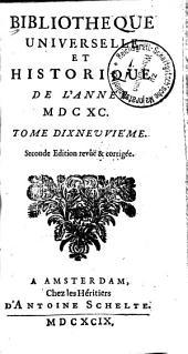 Bibliothèque universelle et historique: Volume19