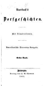 Auerbach's Dorfgeschichten: Band 1