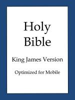 The Holy Bible  King James Version  Optimized for Mobile  PDF