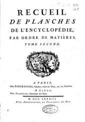 Recueil de planches de l'Encyclopedie par ordre de matiéres ...