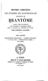 Oeuvres completes de Pierre de Bourdeille: Volumes7à8