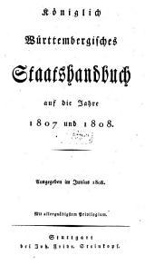 Königlich-Württembergisches Staatshandbuch: 1807/08 (1808)