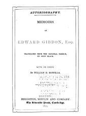 Memoirs of Edward Gibbon, Esq