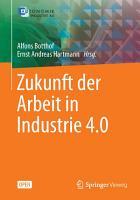 Zukunft der Arbeit in Industrie 4 0 PDF