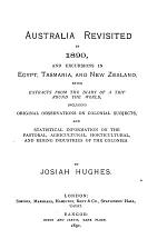 Australia Revisited in 1890, and Excursions in Egypt, Tasmania, and New Zealand