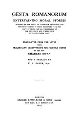 Gesta Romanorum: Entertaining Moral Stories