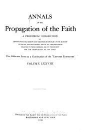 Annals of the Propagation of the Faith: Volumes 78-80