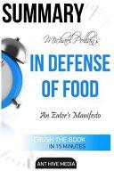 Michael Pollan s in Defense of Food Book