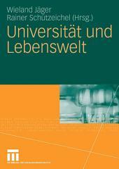 Universität und Lebenswelt: Festschrift für Heinz Abels