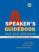 A Speaker s Guidebook with The Essential Guide to Rhetoric Book