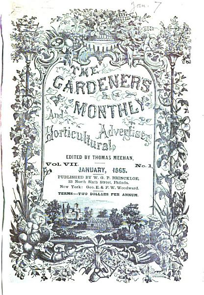 The Gardener s Monthly and Horticultural Advertiser PDF