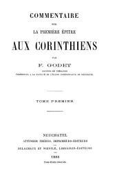 Commentaire sur la premiere épitre aux Corinthiens