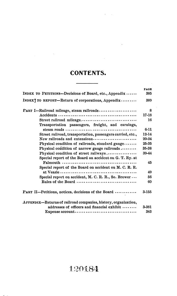 Report of the Railroad Commissioners of the State of Maine, for the Year ..
