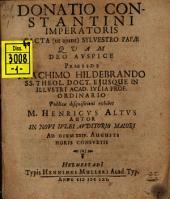 Donatio Constantini imperatoris facta (ut aiunt) Sylvestro papae