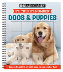 Brain Games   Sticker by Number  Dogs and Puppies  Square Stickers  PDF