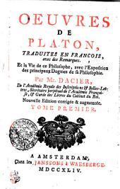 Oeuvres de Platon: Tome premier, Volume1