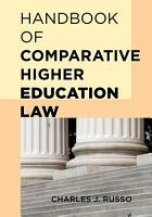 Handbook of Comparative Higher Education Law PDF