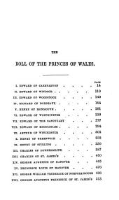 The Book of the Princes of Wales, Heirs to the Crown of England