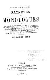 Saynètes et monologues: 1e-8e sér ...