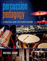 Percussion Pedagogy PDF