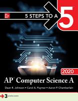 5 Steps to a 5  AP Computer Science A 2020 PDF
