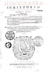 Miscellanea scriptorum universi iuris civilis duobus tomis distincta