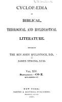 Cyclop  dia of Biblical  Theological  and Ecclesiastical Literature PDF