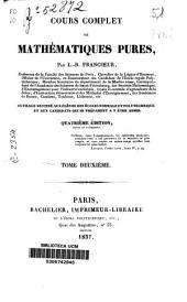 Cours complet de mathématiques pures: Volume2