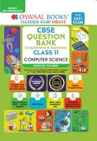 Oswaal CBSE Question Bank Class 11 Computer Science  Reduced Syllabus   For 2021 Exam  PDF